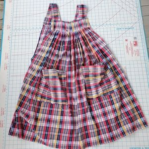 Artist Smock Vintage Plaid Paint Speckles